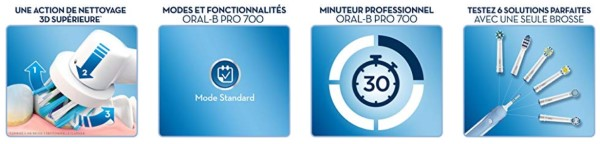 Avantages Oral-B Pro 700
